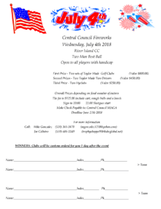 Central Council Fourth of July Tournament 2018